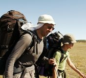 In der Wanderung Stockfotos