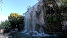 Der Wasserfall Kaskade Du Casteu in Castel Hill stock video footage