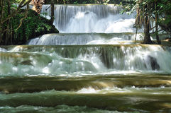 Der Wasserfall in Natur Stockbilder