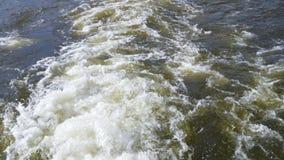 Der Wasserstrom von der Schiffsschraube stock video footage