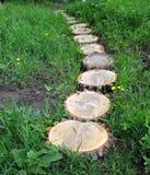 Der Weg wird vom Holz hergestellt lizenzfreie stockbilder