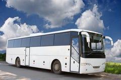 Der weiße Bus Lizenzfreies Stockbild
