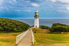 Der weiße Leuchtturm Lizenzfreies Stockbild