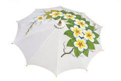 Der weiße Regenschirm Lizenzfreies Stockbild