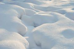 Der weiße Schnee Stockfotos