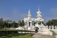 Der weiße Tempel in Chiang Rai, Thailand stockbilder