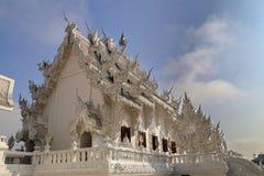 Der weiße Tempel in Chiang Rai, Thailand stockfotos
