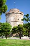 Der weiße Turm von Saloniki Stockfotos
