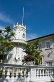 Der weich-rosafarbene Palast nahe Bangkok Lizenzfreies Stockbild