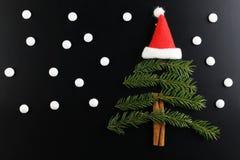 Der Weihnachtsbaum-Formhintergrund Stockfotografie