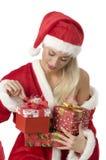 Der Weihnachtskasten Stockbild