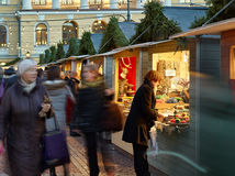 Der Weihnachtsmarkt im Senats-Quadrat Stockfotografie