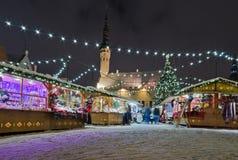 Der Weihnachtsmarkt in Tallinn Lizenzfreie Stockbilder