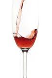 Der Wein, zum in ein Glas zu fließen Lizenzfreie Stockfotos
