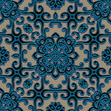 Der Weinlese Verzierung swirly, nahtloses Muster Stockfotografie
