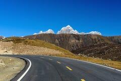 Der weite Mt Zuodala stockbild