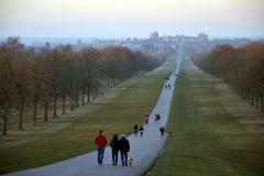 Der weite Spaziergang, Windsor Great Park, England, Großbritannien Stockfotografie