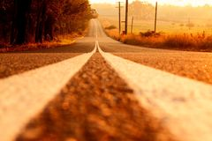 Der weite Weg voran Stockfoto