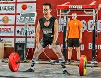 Der 2014 Weltcup, der AWPC in Moskau powerlifting ist Lizenzfreies Stockbild