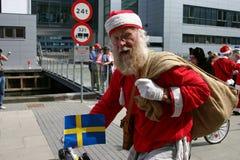 Der Weltweihnachtsmann-Kongreß in Kopenhagen Lizenzfreies Stockfoto