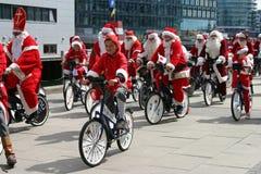 Der Weltweihnachtsmann-Kongreß in Kopenhagen Stockfoto