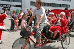 Der Weltweihnachtsmann-Kongreß in Kopenhagen Lizenzfreies Stockbild