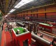 In der Werkstatt der Rohrfabrik Lizenzfreies Stockbild