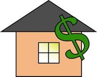 Der Wert des Hauses vektor abbildung