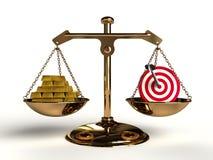 Der Wert des Ziels. lizenzfreie abbildung