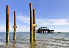 Der Westpier in Brighton Stockbild