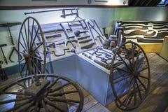 Der Wheelwright Shop im Museum der Landwirte Stockbild