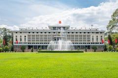 Der Wiedervereinigungs-Palast in Ho Chi Minh City lizenzfreies stockfoto