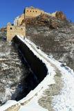 der Winter Jinshanlings-Chinesischer Mauer in Chengde Hebe, China Lizenzfreie Stockbilder