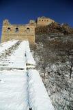 der Winter Jinshanlings-Chinesischer Mauer in Chengde Hebe, China Stockbild