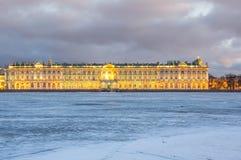 Der Winter-Palast in St Petersburg Lizenzfreies Stockbild