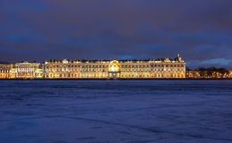 Der Winter-Palast in St Petersburg Stockfotografie