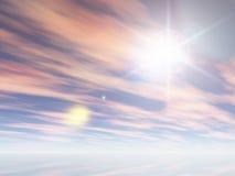 Der Winterhimmel Lizenzfreie Stockfotografie