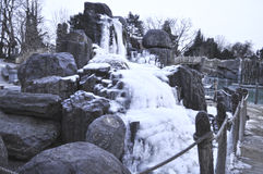 Der Winternebenfluß Stockfotografie