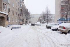 Der Wirbelsturm Daniella in der Brisov-Stadt