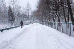 Der Wirbelsturm Emma in der Brisov-Stadt Lizenzfreies Stockfoto