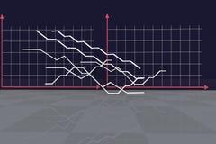 Der wirtschaftliche Hintergrund Illustration für Wirtschaft und Geschäft Lizenzfreies Stockfoto