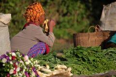 Der Wochenmarkt von Kalaw auf Myanmar Lizenzfreie Stockfotografie