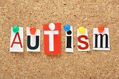 Der Wort Autismus Stockfotos