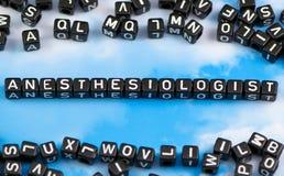 Der Wortanästhesiologe stockbilder