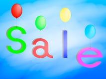 Der Wortverkauf auf den Ballonen Stockfoto