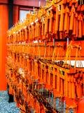 Der Wunsch etikettiert herein hängen an Schrein Fushimi Inari Lizenzfreies Stockfoto