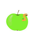 Wurm im Apfel vektor abbildung