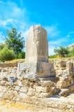 Der Xanthos-Obelisk stockfotografie