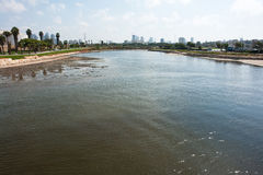 Der Yarkon Fluss Tel Aviv Israel Lizenzfreies Stockbild