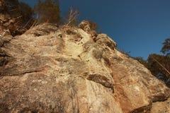 Der Yermak-Felsen Sivla-Fluss lizenzfreie stockfotografie